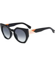Fendi 0151-S FFファセット807 JJ黒のサングラス