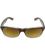 RayBan 透明614585サングラスに茶色の起毛Rb2132 52新ウェイファーラートップ